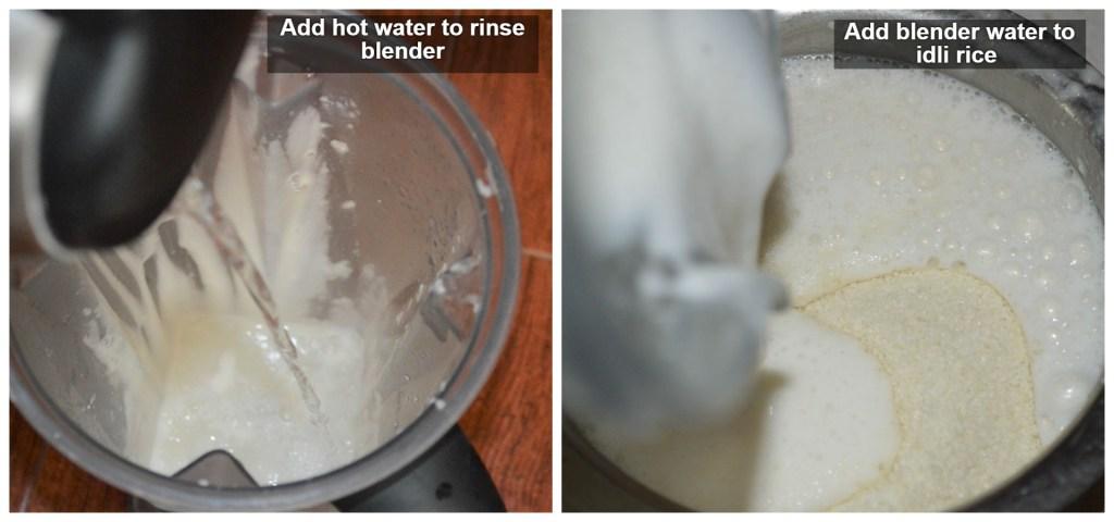 Add water to idli rava