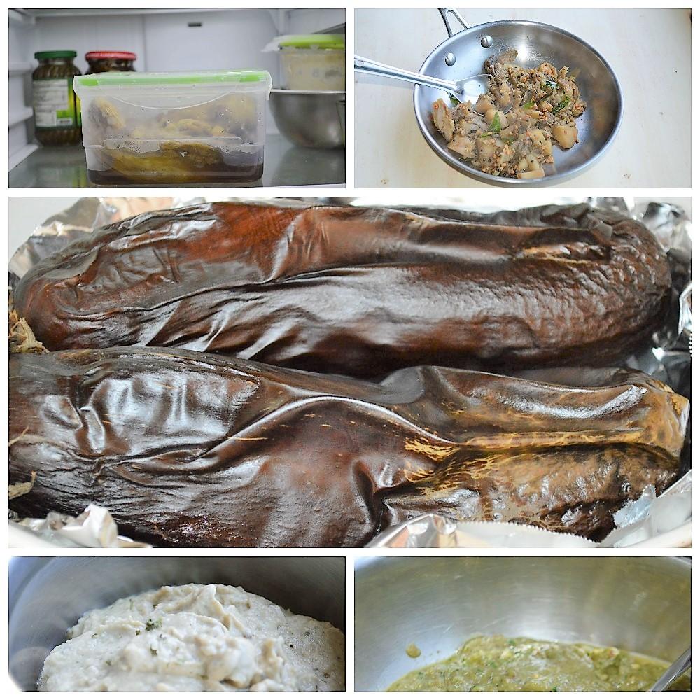 How to meal prep eggplant to make vankaya pachadi, kathrikka curry, baingan choka, baba ghanoush and other easy recipes | upgrademyfood.com