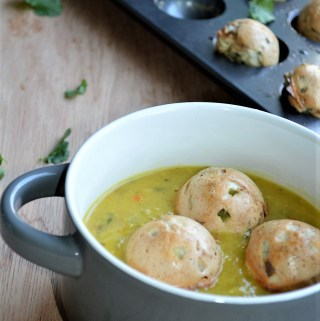 Healthy Bonda Soup (with baked bonda)
