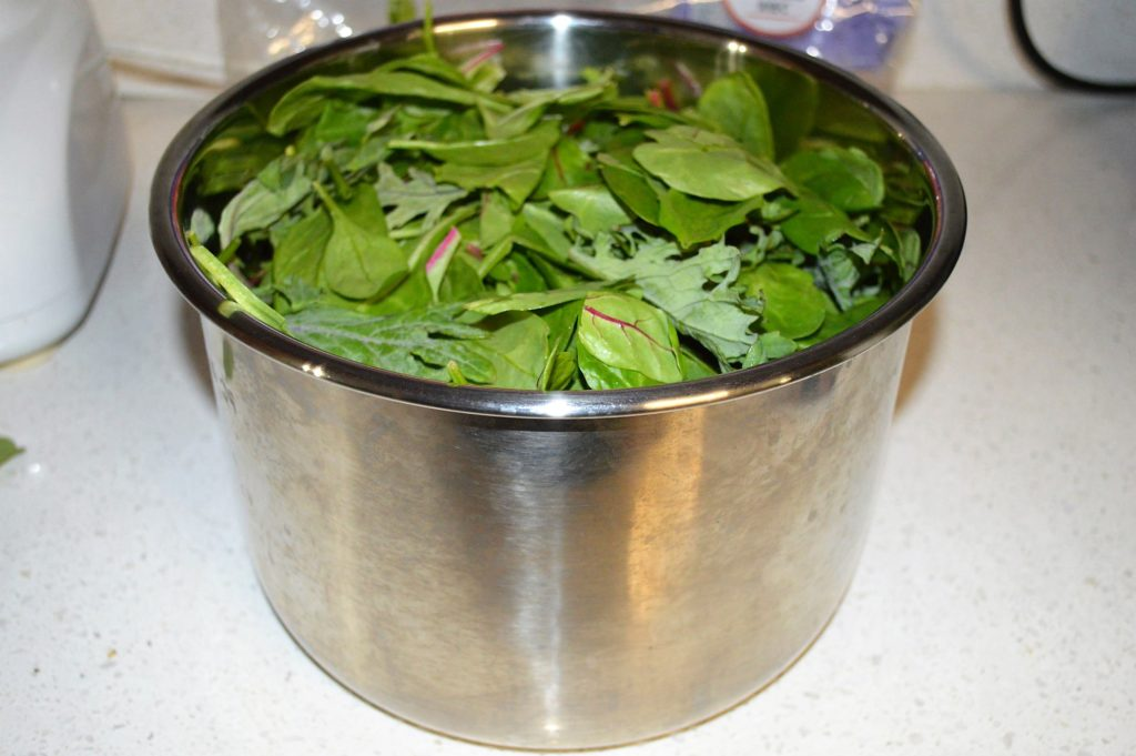 greens in instant pot