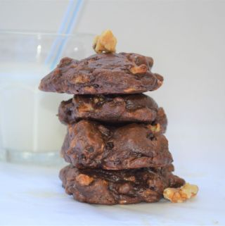 Mushy banana chocolate cookie