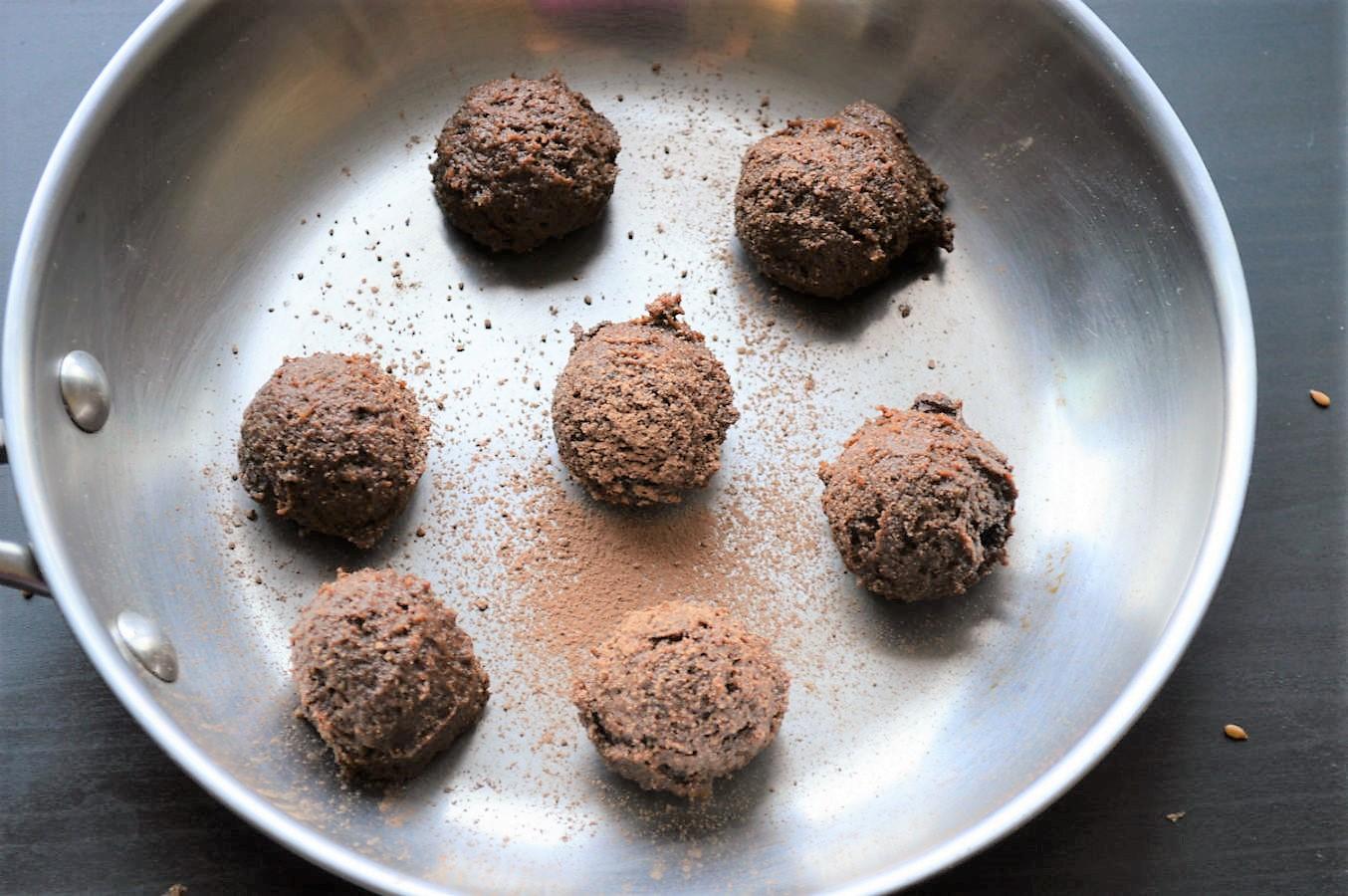 Vegan Flax Date Chocolate truffles