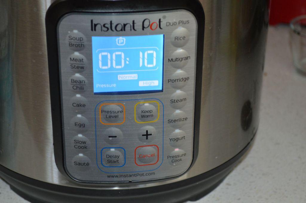 Instant pot setting 10 min