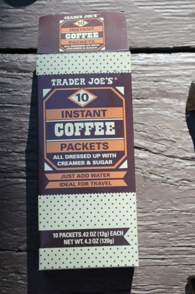Camping instant coffee