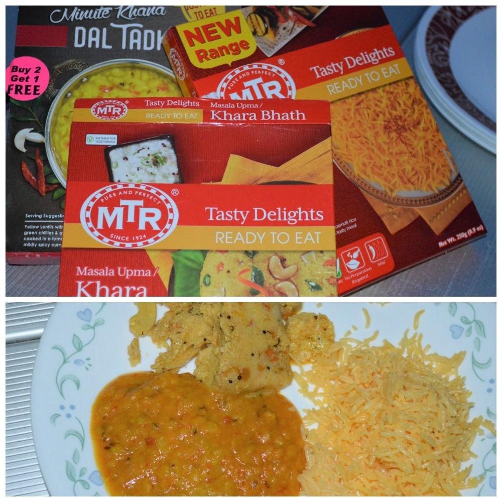 MTR upma saffron rice Haldiram Dal Tadka