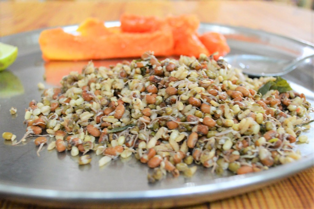 Boiled Sprouts at manthena raju ashram