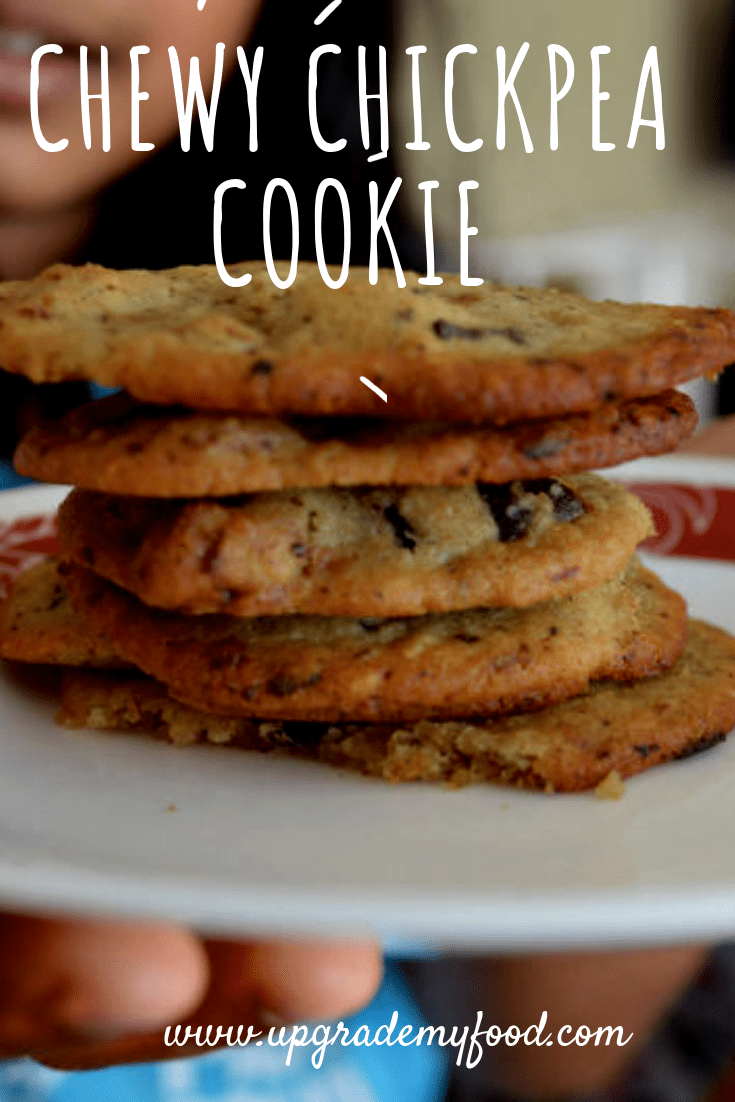 Chewy chocolate chip gluten free chickpea cookie