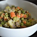 Sweet Potato Indian vegan coconut Salad