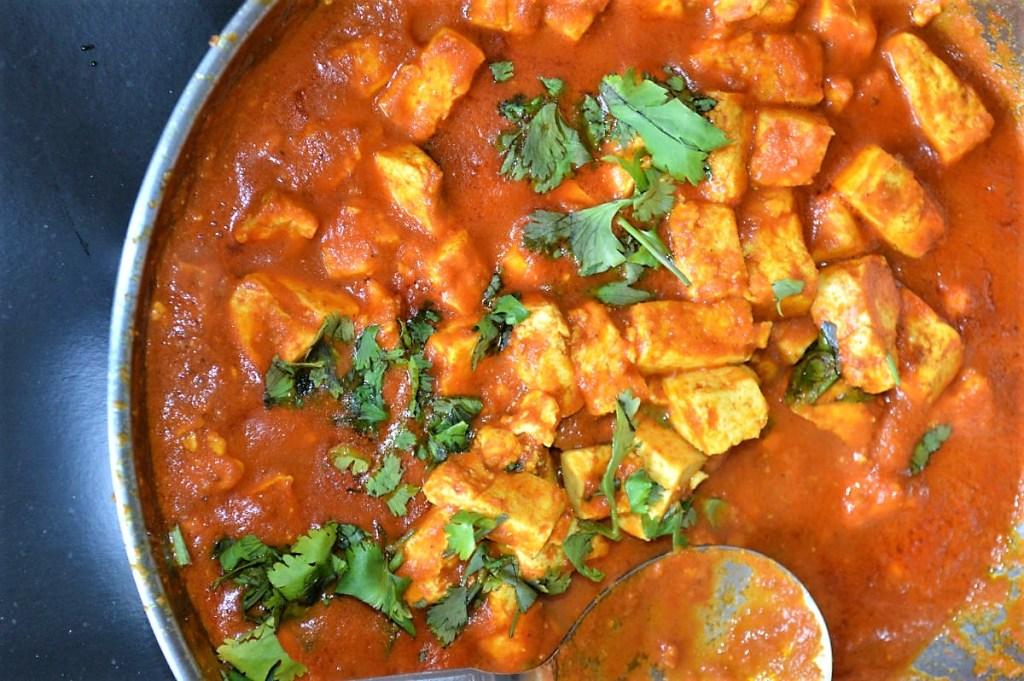 Easy Vegan tofu coconut creamy curry