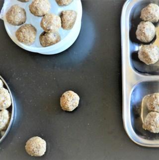 sesame date balls vegan recipe