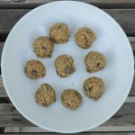 Sunflower butter truffles chia seed