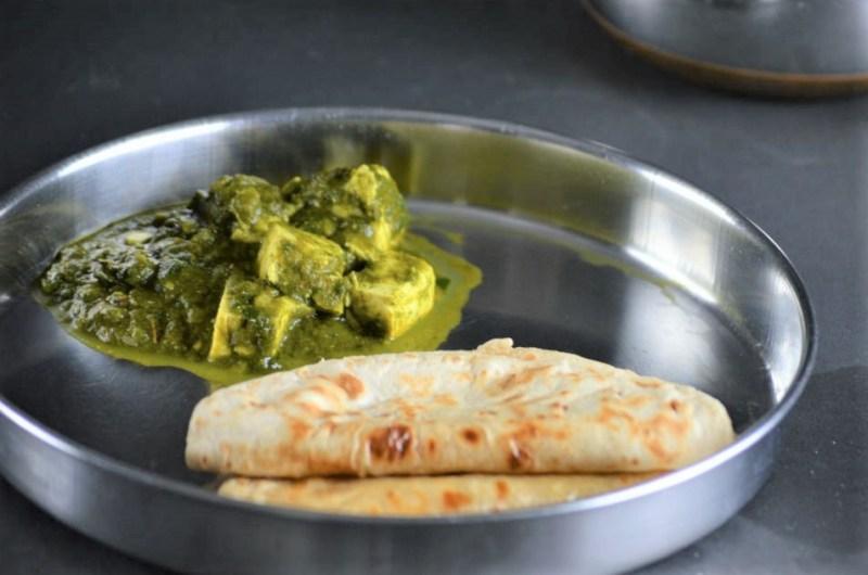 Vegan Palak Tofu ready in 10 minutes