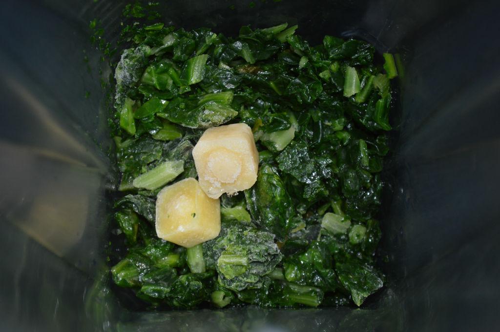frozen spinach ginger garlic