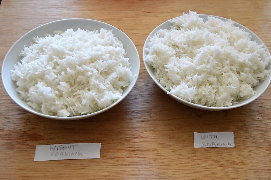 soaked vs unsoaked basmati rice