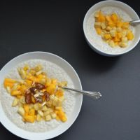 Creamy Almond Chia Pudding (Perfect Nuts, Seed +Fruit Breakfast)