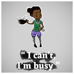 Dessin femme noire avec une cafetière à la main