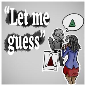 Conversation professionnelle homme femme noire