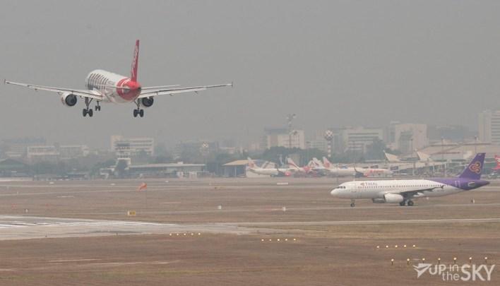 Thai Airways en AirAsia op Chiang Mai