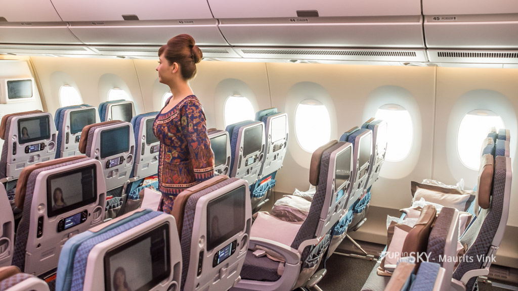 Singapore Airlines: geen economyclass