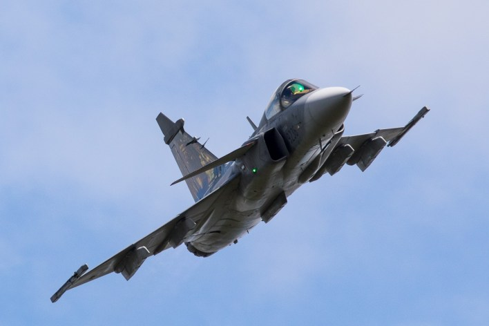 SAAB JAS39 Gripen van de Tsjechische luchtmacht © Leonard van den Broek