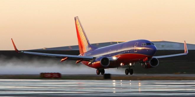 Koppel heeft sex in vliegtuig Southwest