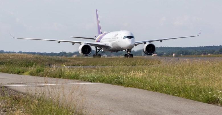 Thai A350-900 tijdens testvlucht