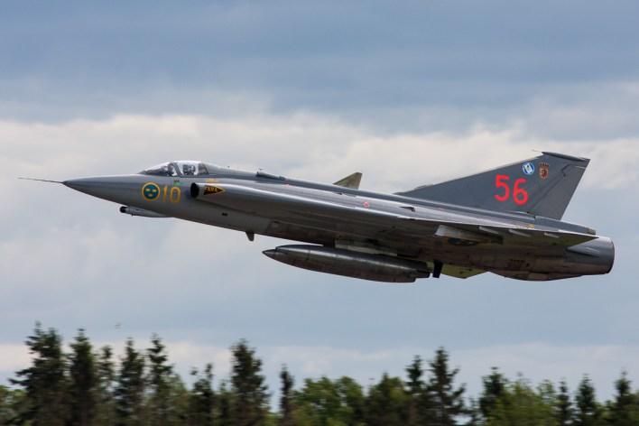 Saab J35J Draken, welke nu is aangekocht door Saab © Leonard van den Broek