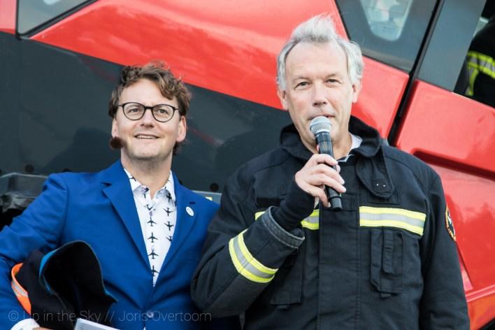 Schiphol-CEO Jos Nijhuis opende de demo