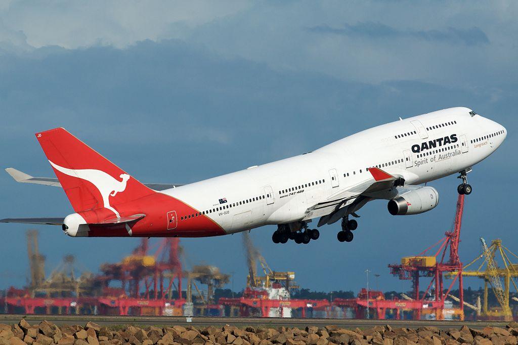 Qantas 747 brengt extra kerosine naar Nieuw-Zeeland