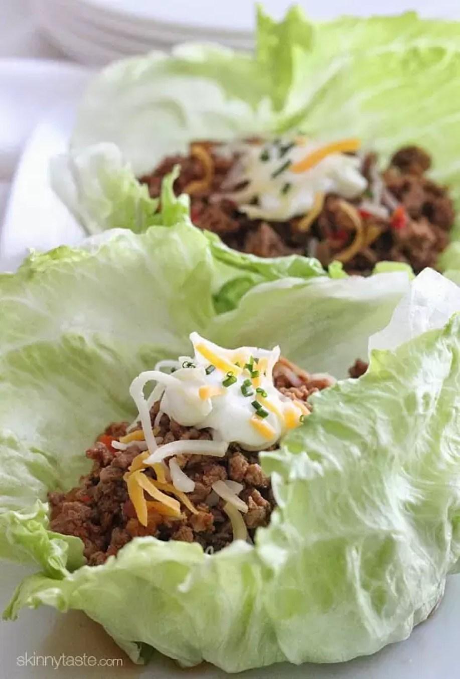 Turkey Taco Lettuce Wrapsby Skinny Taste