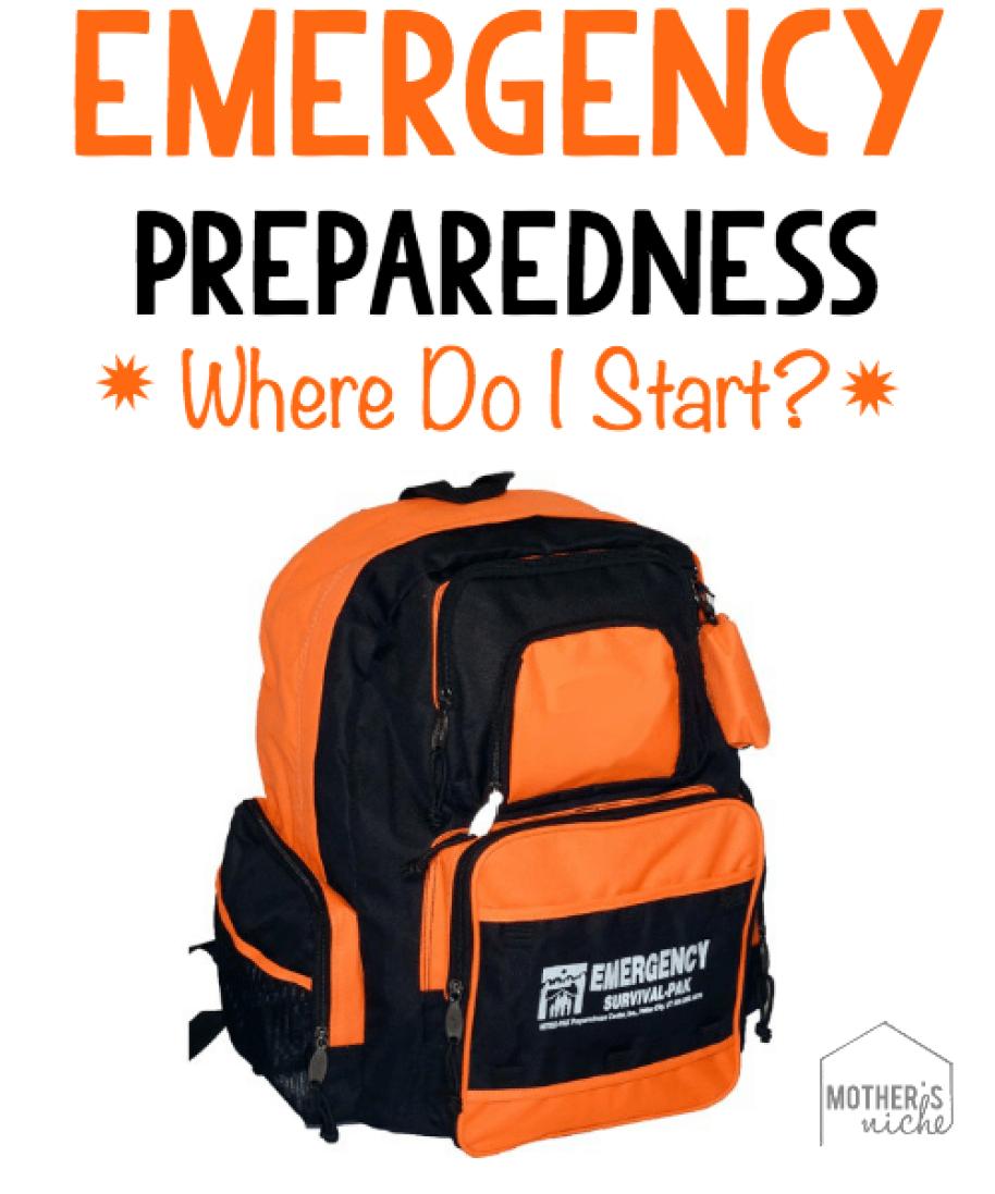 Emergency preparedness. Where do I start?