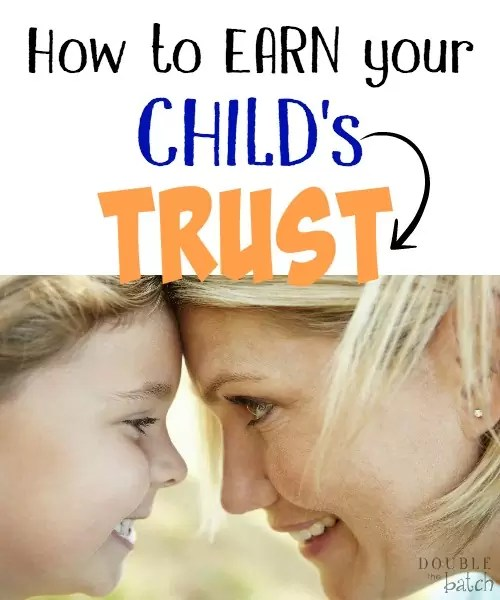 Never underestimate the importance of a child's trust!