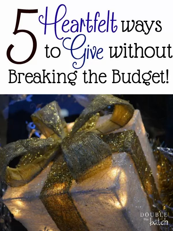 The thought of giving can be overwhelming when the budget is already stretched to the max. Here are 5 heartfelt ways to give. #WishForOthers #ad