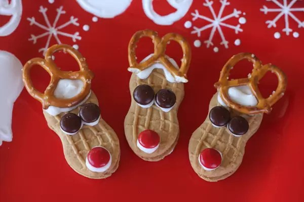 Nutter Butter Reindeers by Our Best Bites