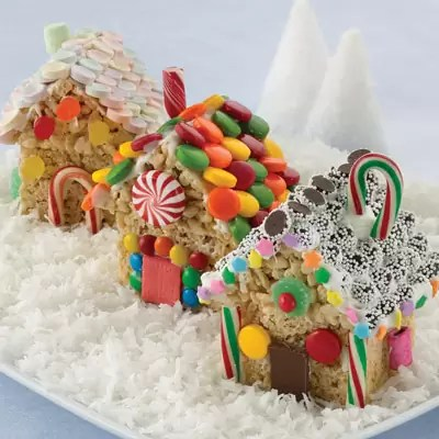 Rice Krispie Treats Christmas Cottages by Land o Lakes
