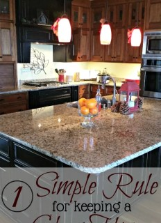 1 Rule for Keeping Your House Clean and Orderly