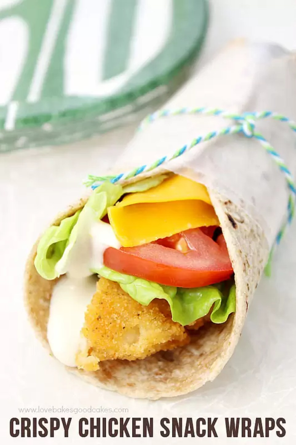 Crispy Chicken Snack Wraps by Love Bakes Good Cakes