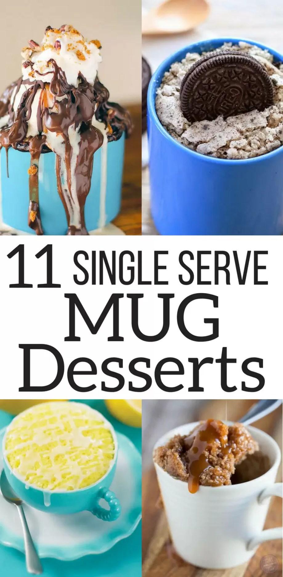 The best single serve mug desserts on the internet! Genius idea for that quick dessert!