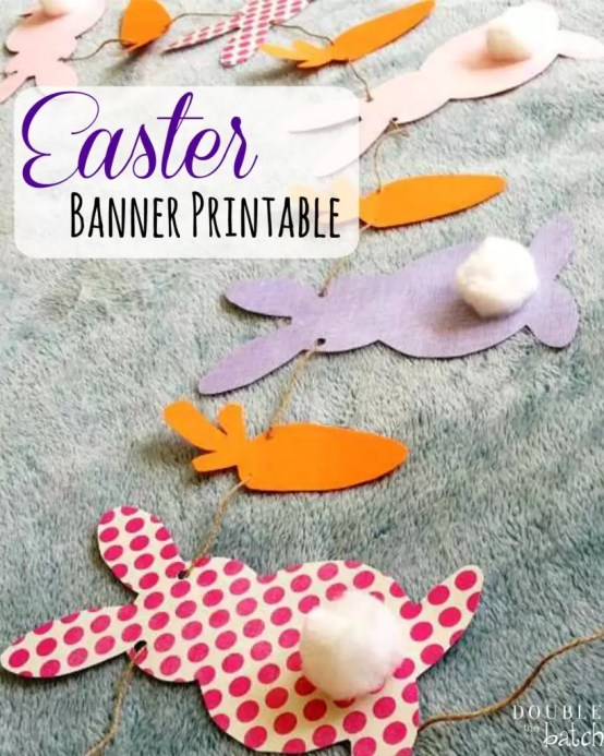 This Easter Banner Printable is FREE and SO cute!