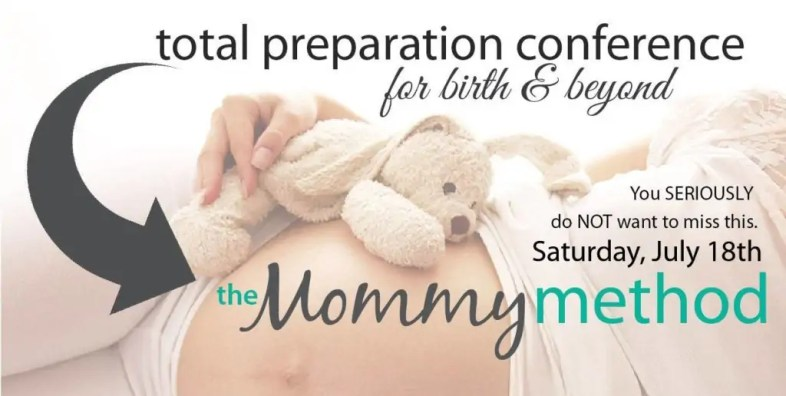 Wish I had this when I was pregnant! The Mommy Method is an all-new approach to childbirth preparation. It is a one-stop, all-day, fun-filled CONFERENCE, tailored to the needs of every birthing mother!