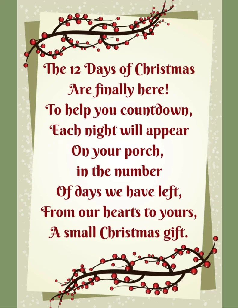 an easy fast way to do the 12 days of christmas for your neighbor - How Many Gifts In 12 Days Of Christmas