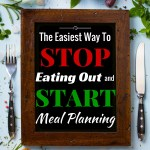 The Easiest Way to STOP Eating Out and START Meal Planning