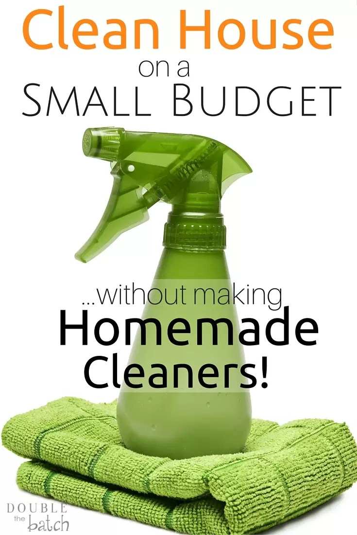 Keeping a clean house on a small budget just got a whole lot simpler! If you're tired of making homemade cleaners but don't want to bust the budget, try this instead!
