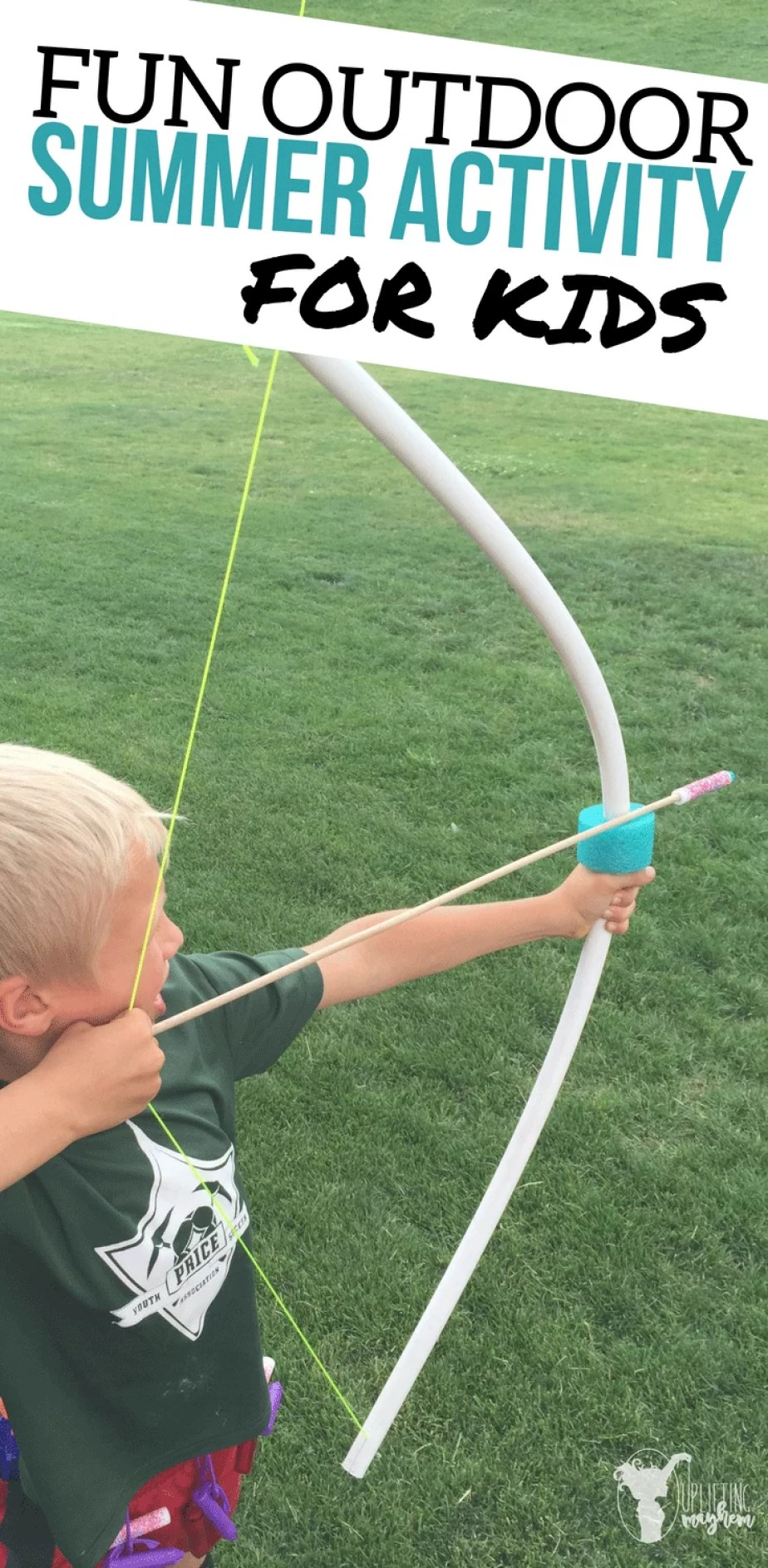 DIY PVC Bow and Arrow! Fun Outdoor Summer Activity for boys and girls.