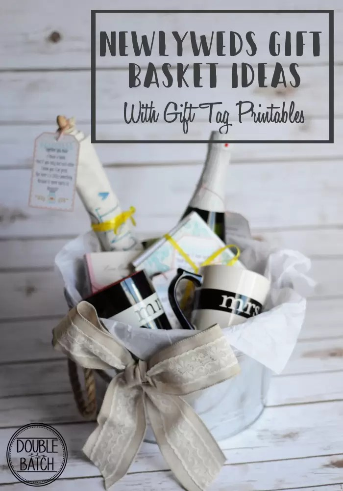 Newlyweds gift basket ideas with free printable gift tags great newlyweds gift basket ideas with free gift tag printables negle Image collections