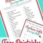 Christmas Light Scavenger Hunt: FREE PRINTABLE LIST and INVITATIONS
