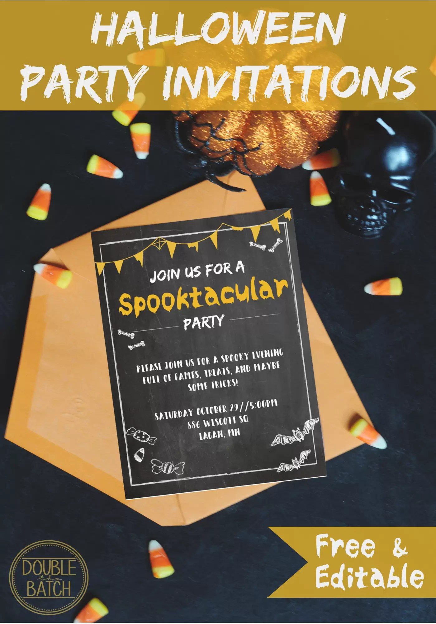 Free Halloween Party Invitations - Uplifting Mayhem