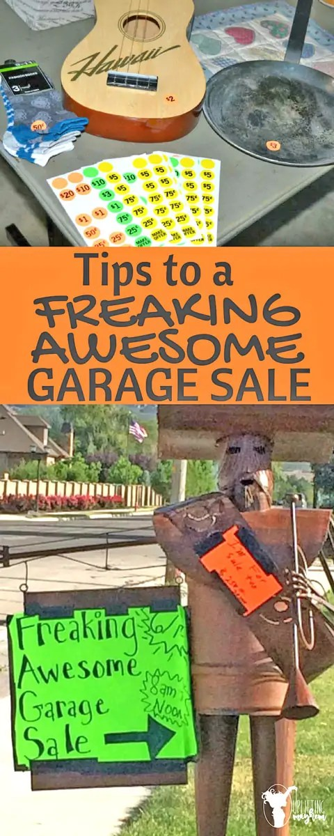 Tips to a FREAKING AWESOME Garage Sale
