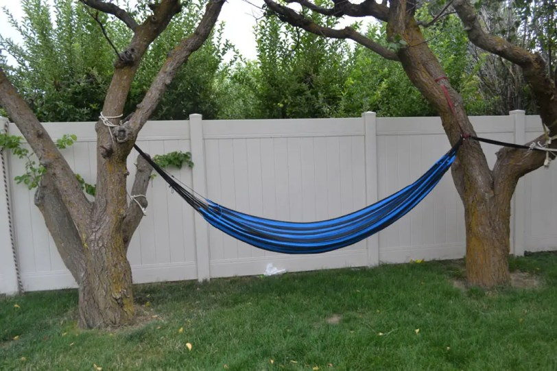hammock, backyard, relaxing