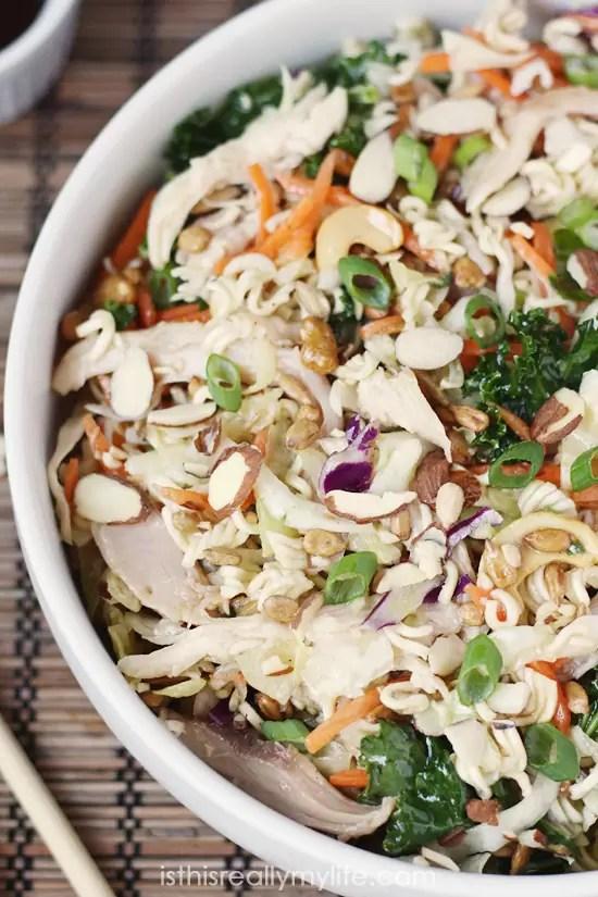 The Best Asian Ramen Chicken Salad